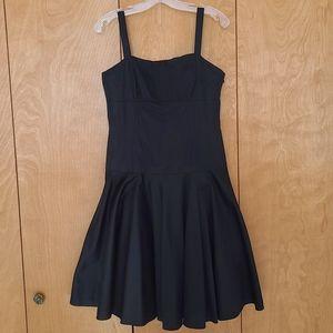 Lauren Ralph Lauren black fit & flare swing dress
